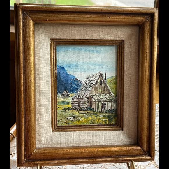 ART SALE! Small original oil painting, vintage
